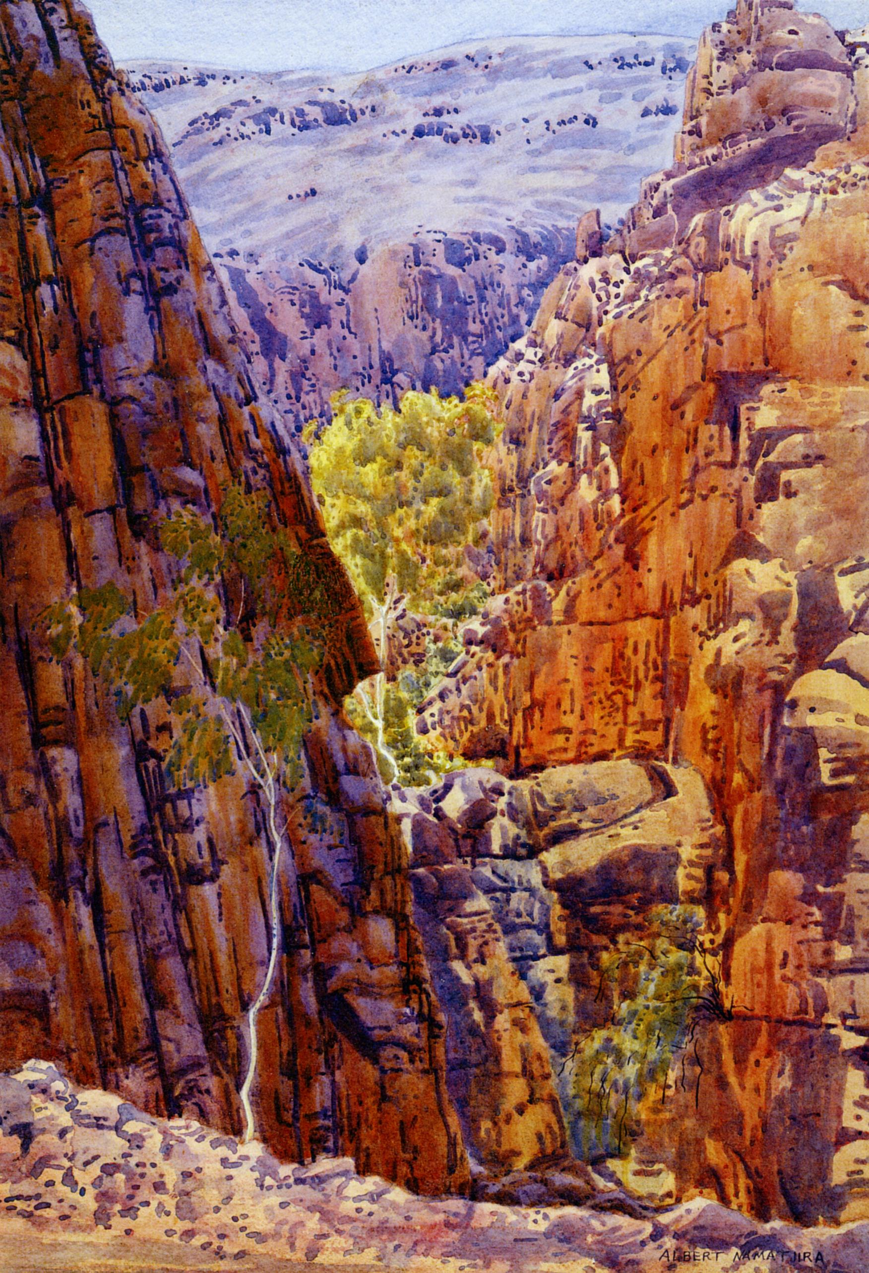 Albert namatjira s chasms julia ritson for Australian mural artists