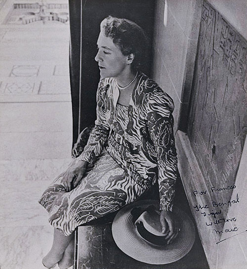 "Image result for Photograph by Cecil Beaton of Maie Casey wearing a commissioned textile design ""Bengal Tiger"" by her lifelong friend Frances Burke, 1944."