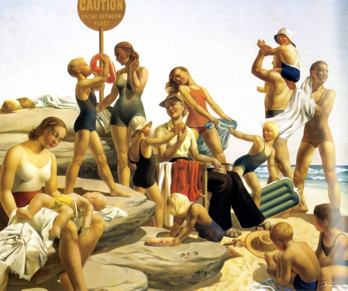 Freda-Robertshaw-Australian-Beach-scene-1940